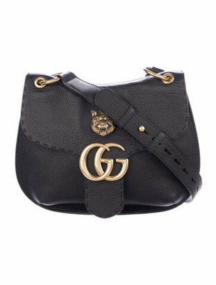 Gucci GG Marmont Animalier Shoulder Bag Black