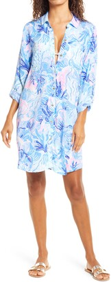Lilly Pulitzer Natalie Cover-Up Shirt Dress