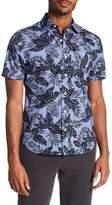 Jack Spade Clift Tropical Print Short Sleeve Shirt