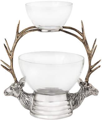 Star Home Designs Elk Glass Bowl Tiered Server
