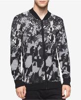 Calvin Klein Men's Abstract-Print Full-Zip Sweater