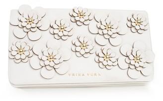 Trina Turk Flirty Floral Applique Clutch