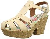 Miss L Fire Florence, Women's Wedge Heels Sandals,(37 EU)
