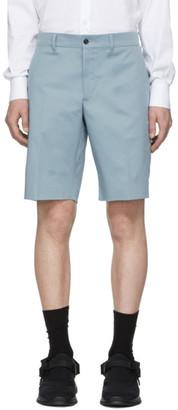 Prada Blue Gabardine Shorts