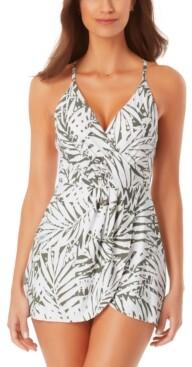 Anne Cole Palm Breeze Wrap-Front Swim Dress Women's Swimsuit