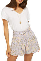 Miss Selfridge Floral Flippy Shorts, Lilac