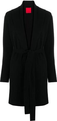 Cashmere In Love Ribbed-Knit Midi Cardi-Coat