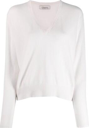 Laneus v-neck knitted top