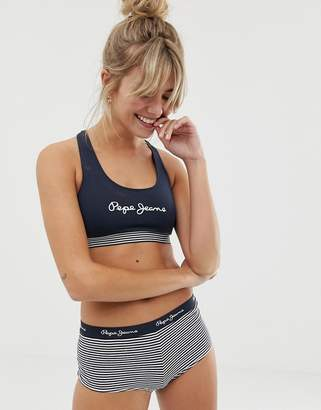 Pepe Jeans Crop Top-Navy