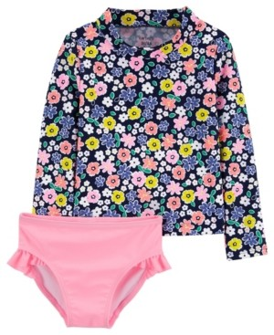 Carter's Baby Girls 2-Piece Floral Rash Guard Set