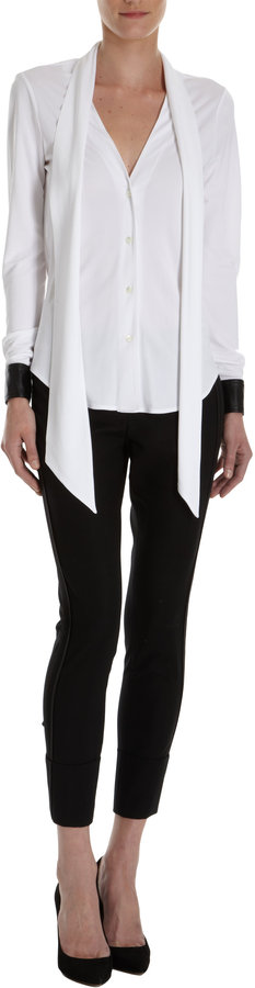 Derek Lam 10 Crosby Tie Neck Blouse