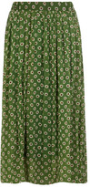 Dorothy Perkins Green floral pleated maxi