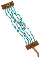 Chan Luu Multistone Beaded Leather Wrap Bracelet