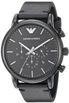 Giorgio Armani Emporio Luigi AR1918 Men's Black IP Stainless Steel Chronograph Watch