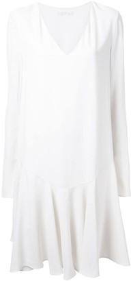 Chloé drop waist pleated dress