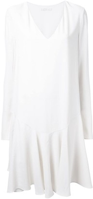 Chloé Drop Waist Pleated Dress