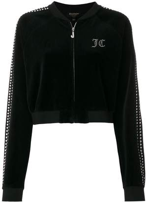 Juicy Couture Swarovski embellished velour crop jacket