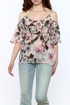 Plenty by Tracy Reese Pink Floral Blouse