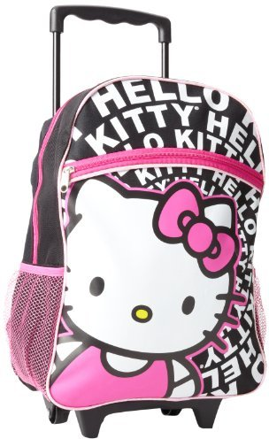 Hello Kitty FAB Starpoint Girls 2-6X 16 Inch Rolling Backpack