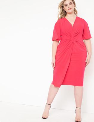 ELOQUII Twist Front Dress