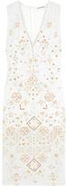 Altuzarra Pamplona Embellished Silk Chiffon-paneled Broderie Anglaise Cotton And Silk-blend Dress - Ivory