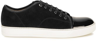 Lanvin Black suede and leather sneakers