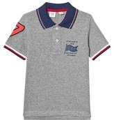 Gap Grey Heather Pique Polo Shirt