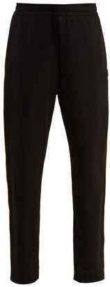Acne Studios Face Side Stripe Jersey Track Pants - Womens - Black