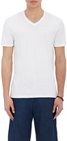 Vince Men's Pima Cotton V-Neck T-Shirt-WHITE