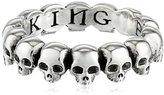 King Baby Studio Skull Infinity Ring, Size 9