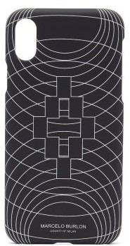 Marcelo Burlon County of Milan Wireframe Iphone Xs Case - Black