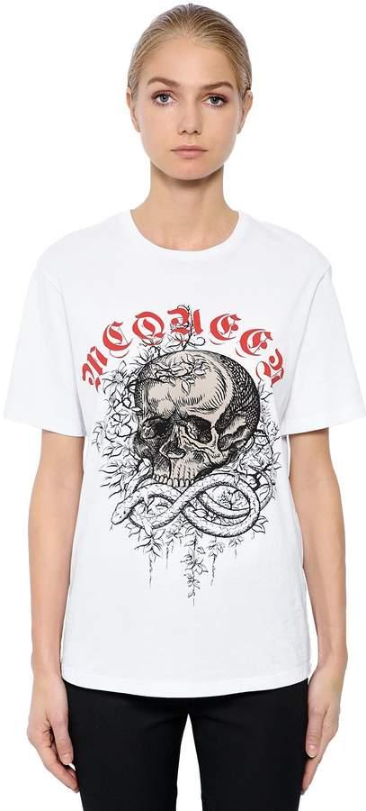 Alexander McQueen Oversized Jungle Skull Jersey T-Shirt