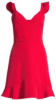 Red Crepe Flares Shopstyle Uk