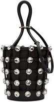 Alexander Wang Black Mini Crystal Roxy Bucket Bag