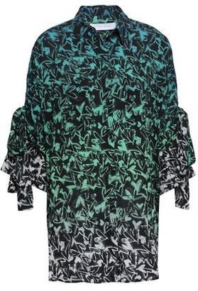 IRO Cado Oversized Printed Degrade Poplin Shirt