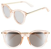 A. J. Morgan Women's A.j. Morgan Hi There 50Mm Mirrored Round Sunglasses - Crystal/ Mirror