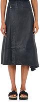 Helmut Lang Women's Leather Asymmetric Wrap Skirt