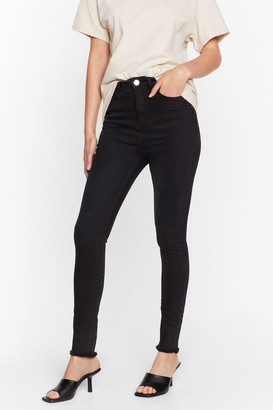 Nasty Gal Womens We Raw It First High-Waisted Skinny Jeans - Black - 6, Black