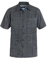 Quiksilver Men's Aganoa Bay 4 Comfort Fit Button Down Casual Shirt