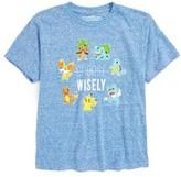 JEM Boy's Pokemon Choose Wisely T-Shirt