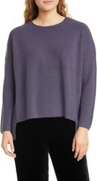 Eileen Fisher Merino Wool High/Low Top