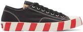 Visvim Black Skagway Lo Stripes Sneakers