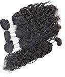 "Echo Beauty Virgin Natural Wave Hair Weft 6A Grade 100% Peruvian Unprocessed Human Hair Extensions Natural Color (22""24""26""28"")"