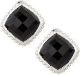 Judith Ripka Cushion-Cut Black Onyx Button Earrings