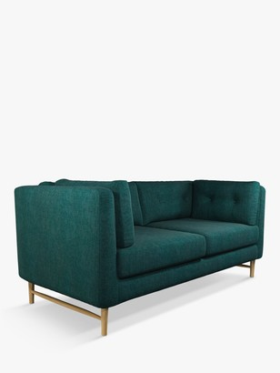 John Lewis & Partners Booth Medium 2 Seater Sofa, Light Leg, Opal Dark Teal