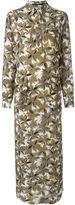 Agnona floral print maxi shirt dress