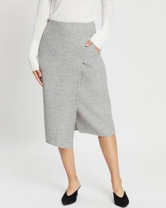 SABA Kayla Wool Wrap Skirt