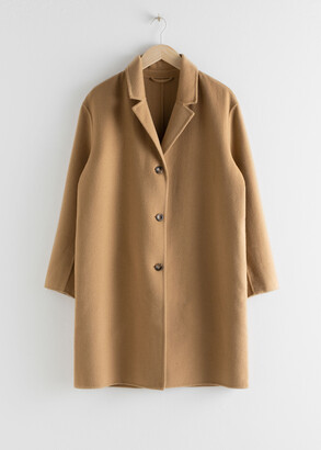 And other stories Relaxed Wool Blend Coat