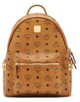MCM Stark Studded Coated Canvas Backpack
