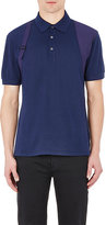 Alexander McQueen Men's Harness Polo Shirt-NAVY